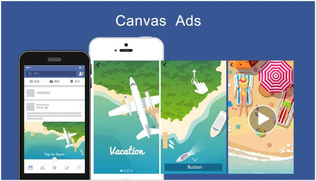 cara membuat Desain Facebook Canvas